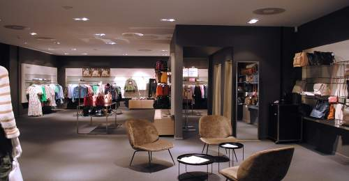 photo d'interieur du magasin globus