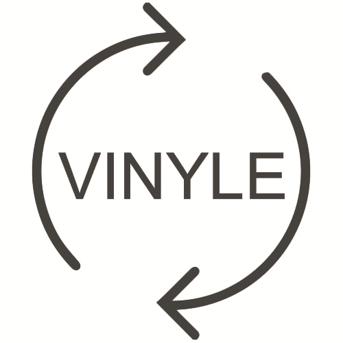 100% recycled vynl backing